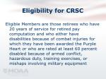 eligibility for crsc