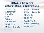 moaa s benefits information department