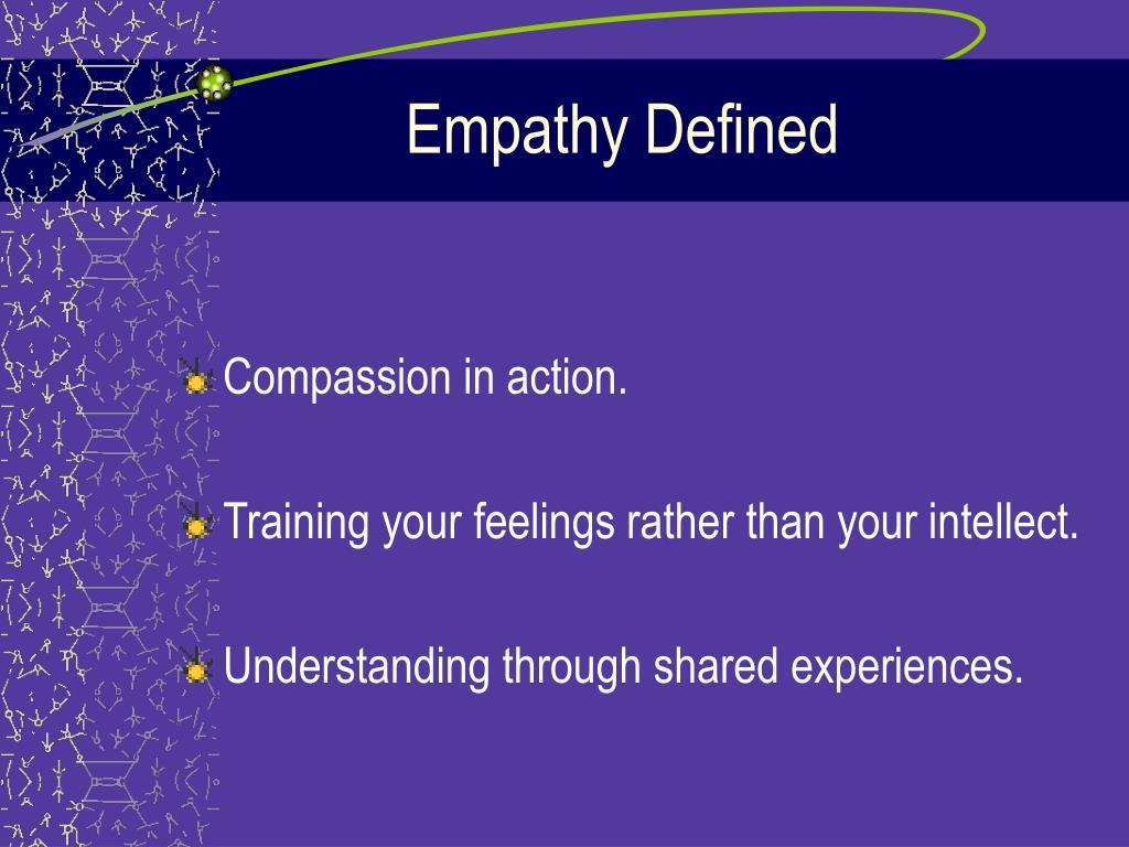 Empathy Defined