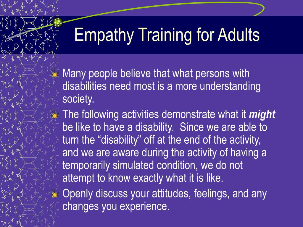 Empathy Training for Adults