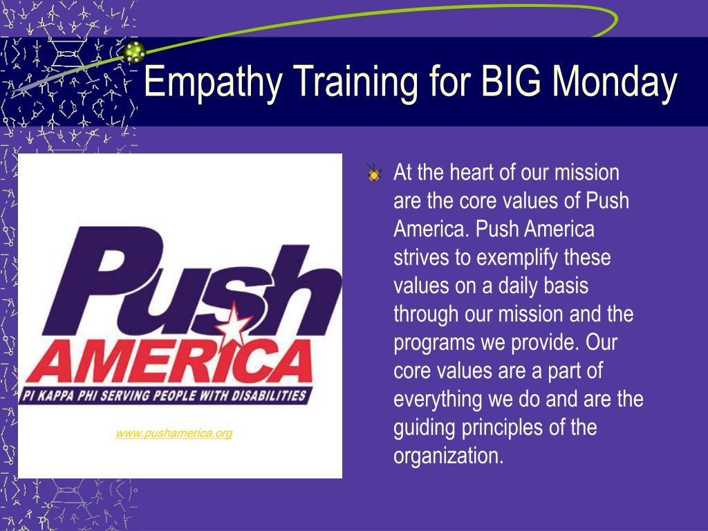Empathy Training for BIG Monday