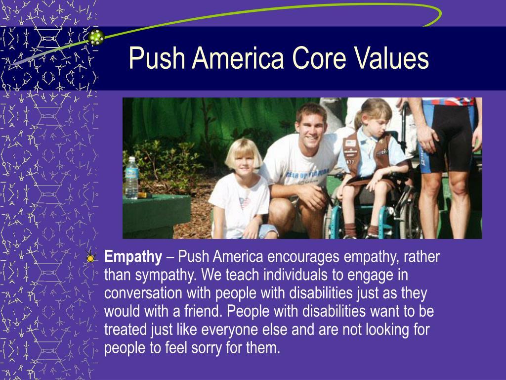 Push America Core Values