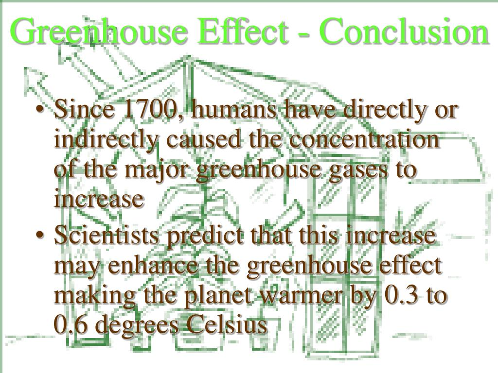 Greenhouse Effect - Conclusion
