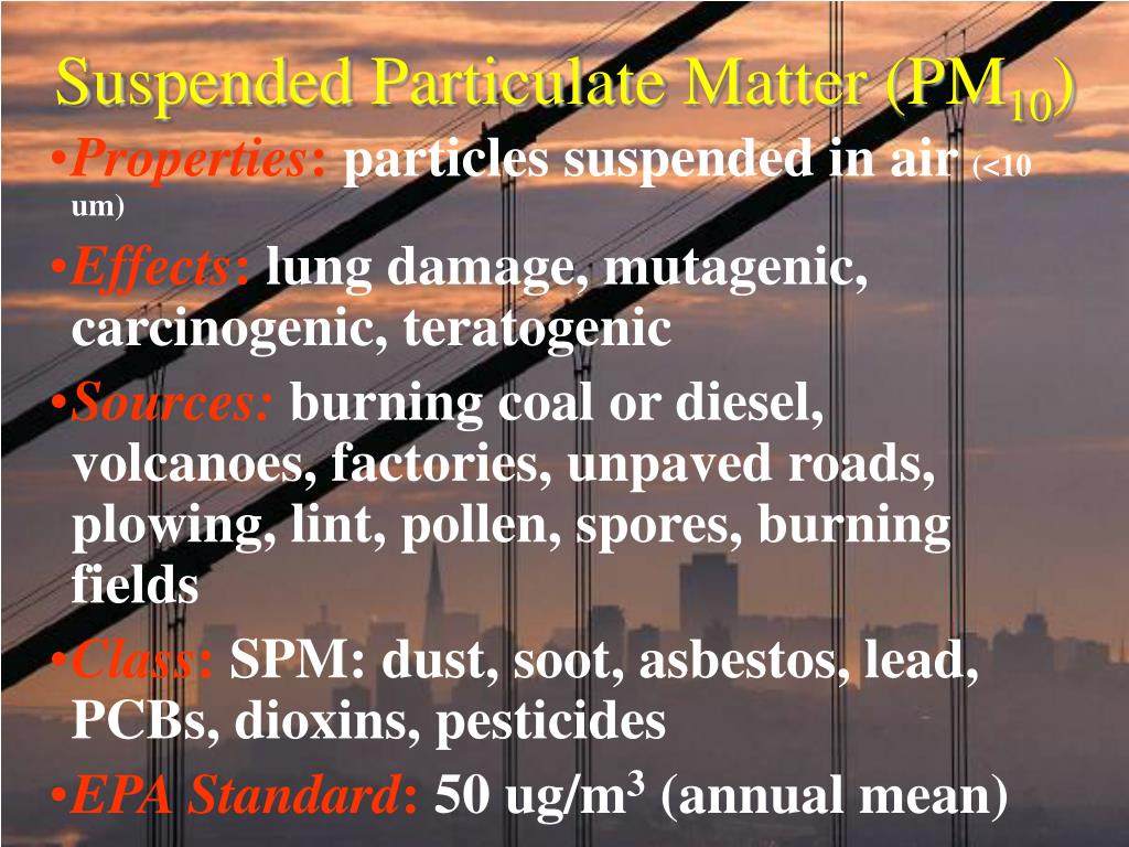 Suspended Particulate Matter (PM