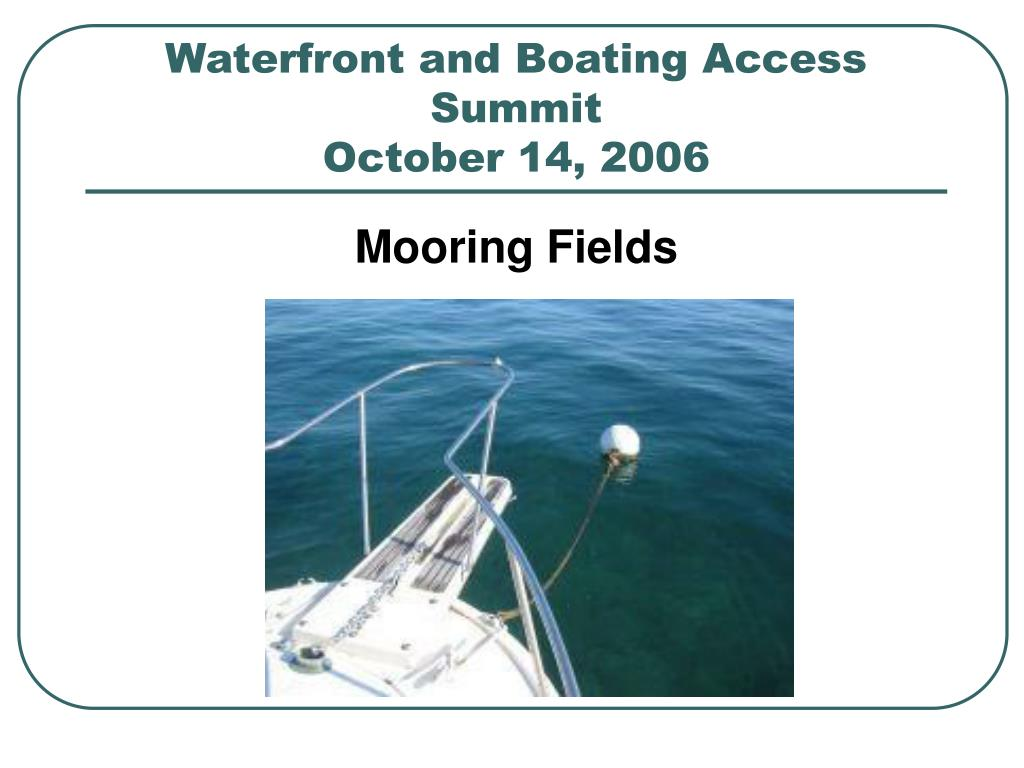 waterfront and boating access summit october 14 2006