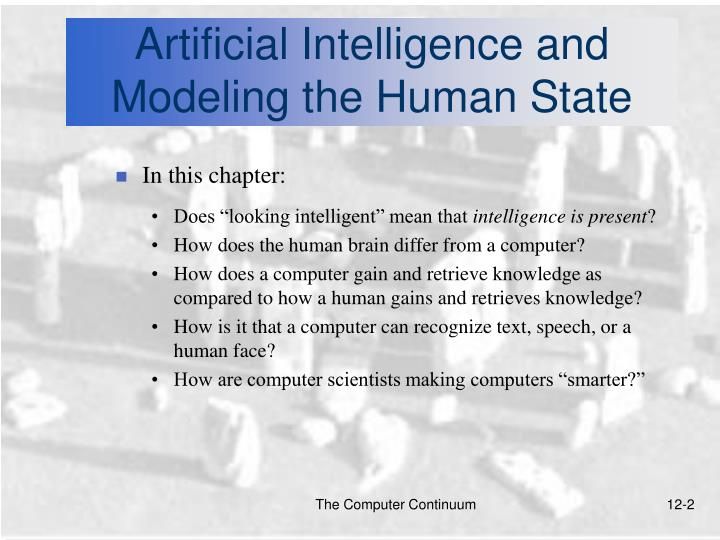Artificial intelligence and modeling the human state