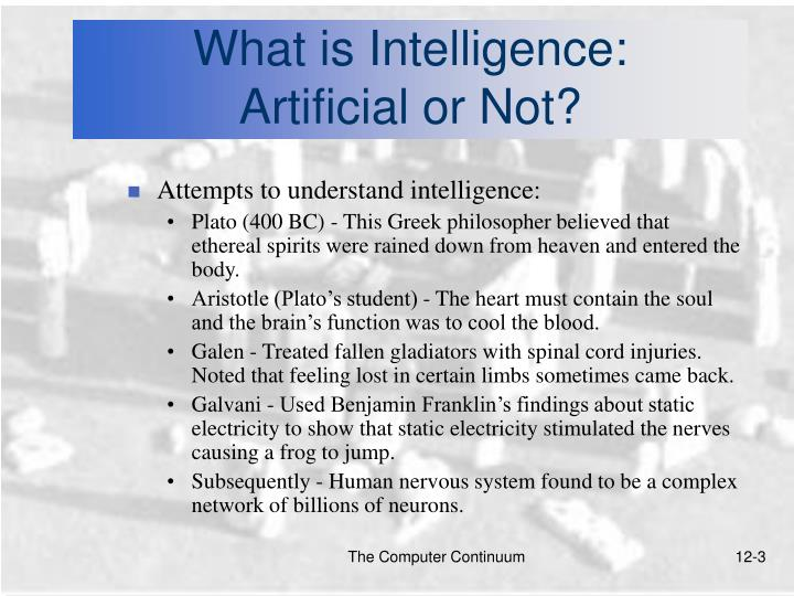 What is intelligence artificial or not