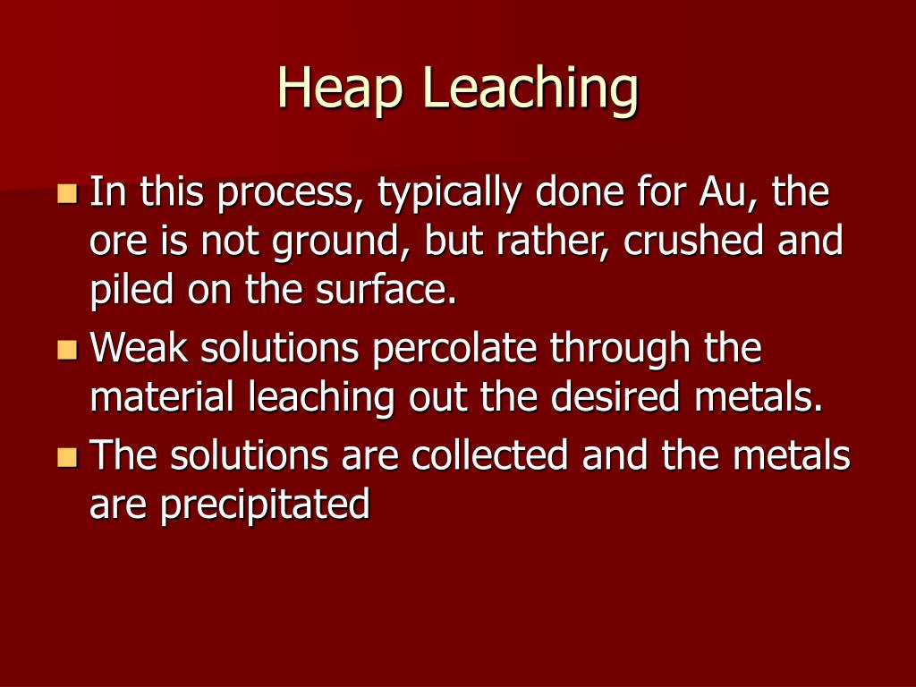 Heap Leaching