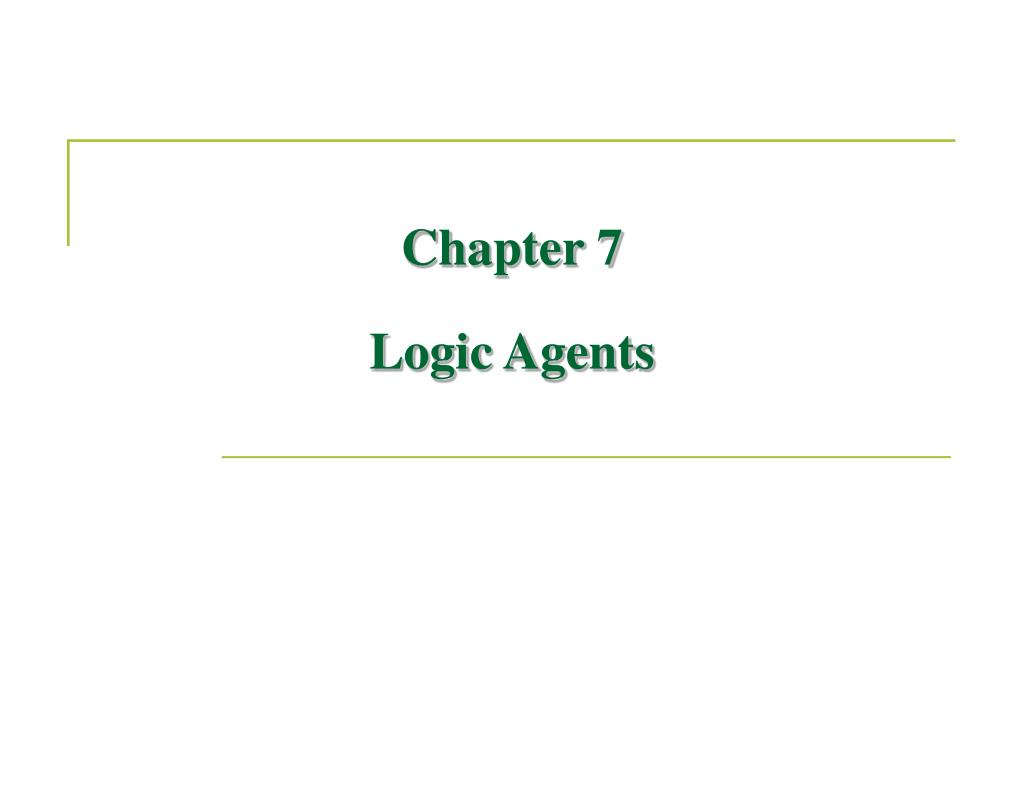 chapter 7 logic agents l.