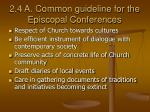 2 4 a common guideline for the episcopal conferences