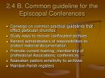 2 4 b common guideline for the episcopal conferences