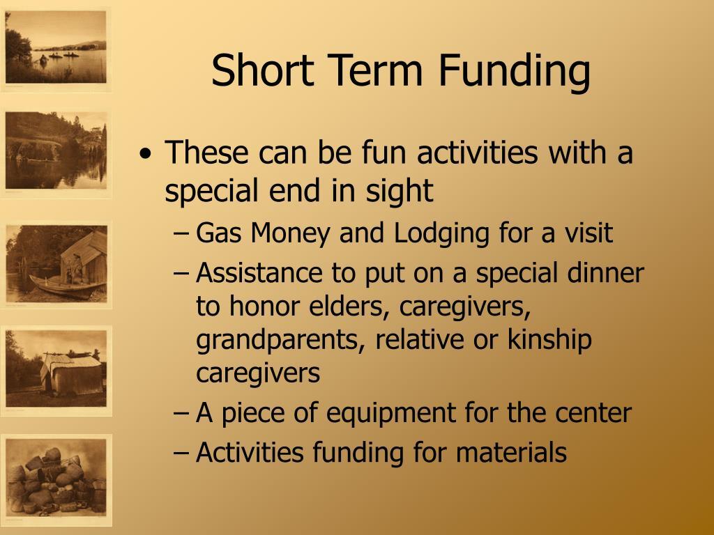 Short Term Funding