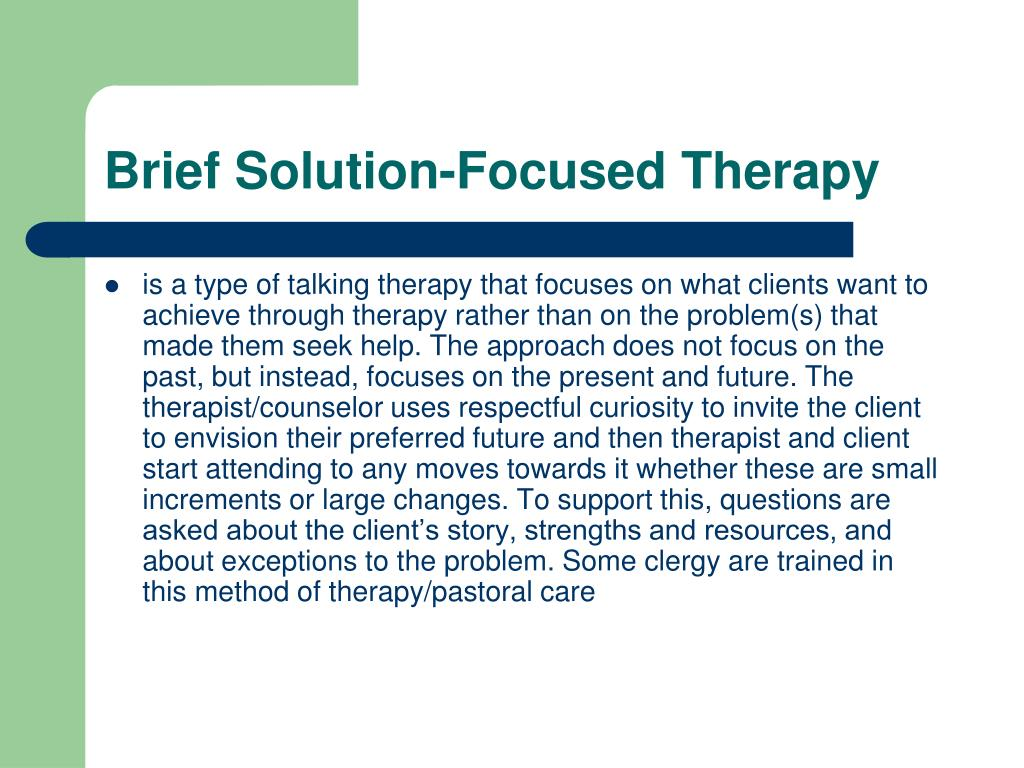 Brief Solution-Focused Therapy