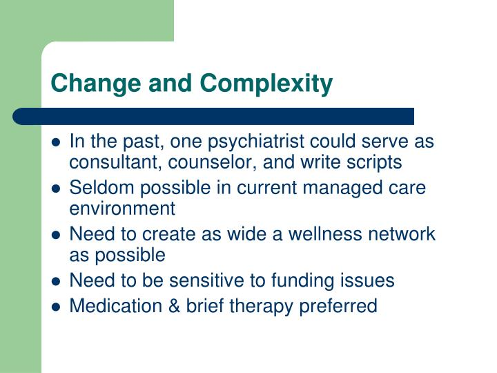 Change and complexity
