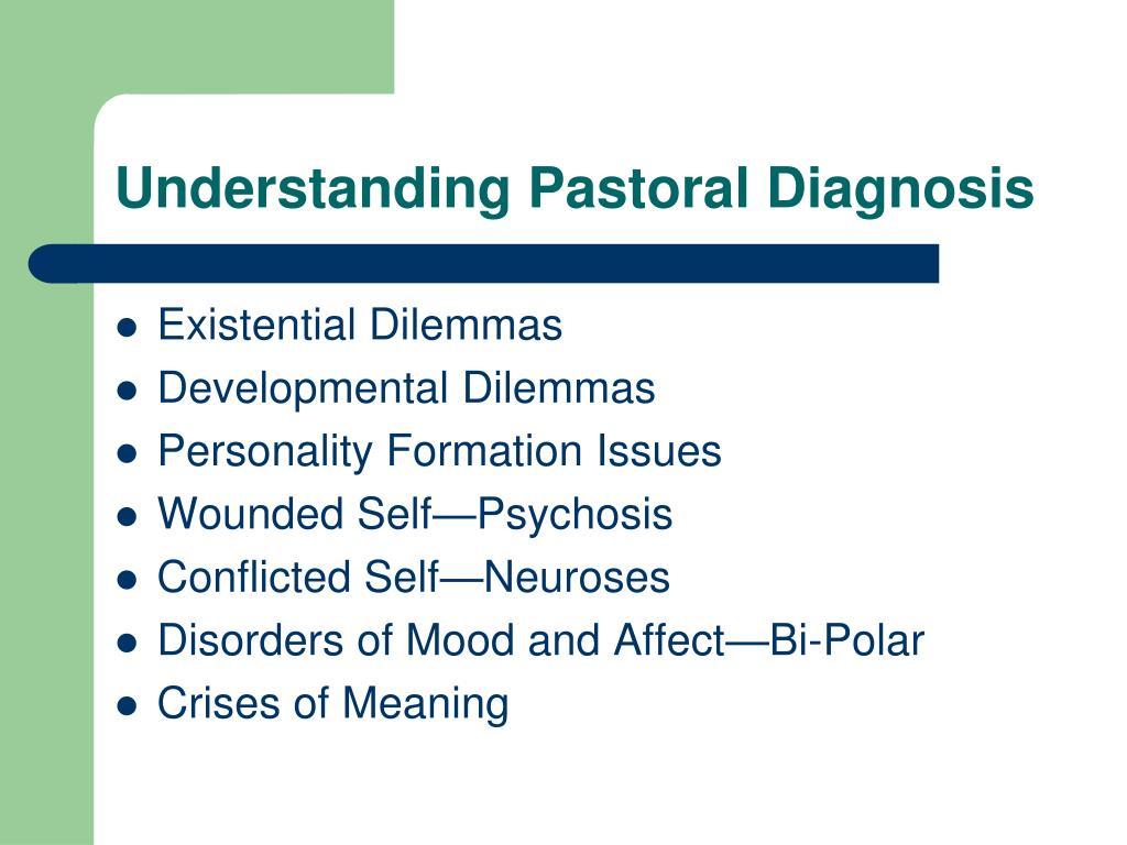 Understanding Pastoral Diagnosis