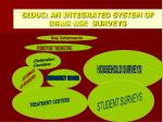 siduc an integrated system of drug use surveys
