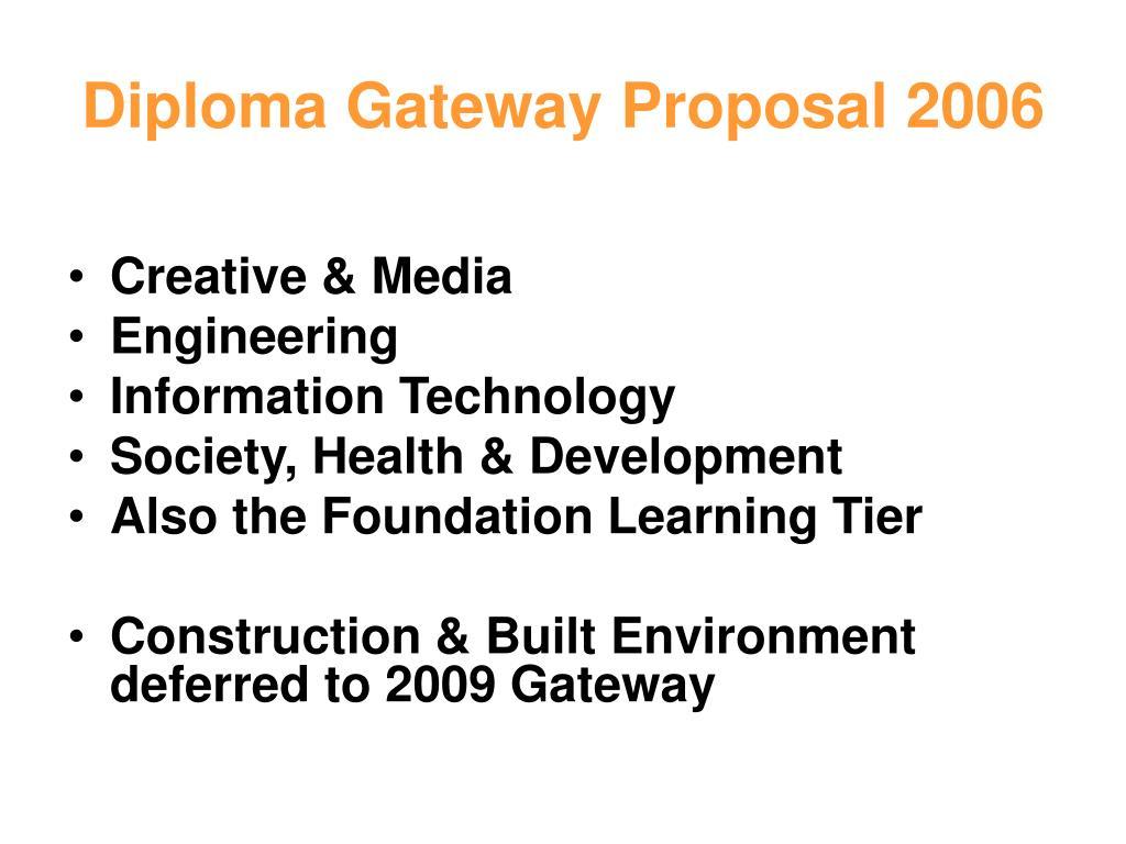 Diploma Gateway Proposal 2006