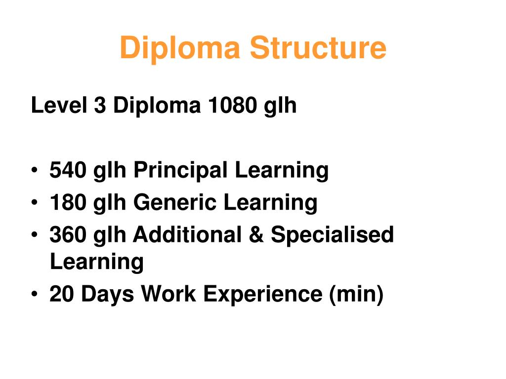 Diploma Structure
