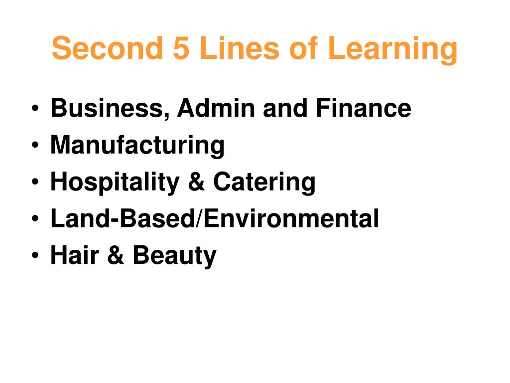 Second 5 Lines of Learning