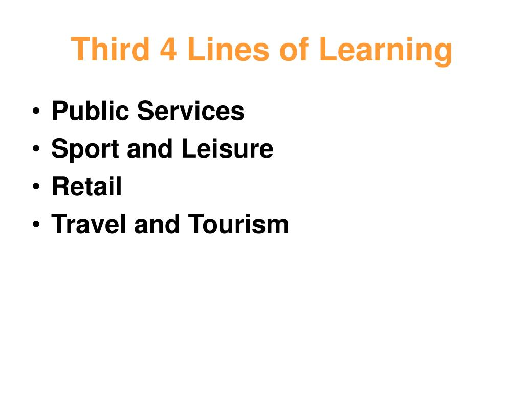 Third 4 Lines of Learning