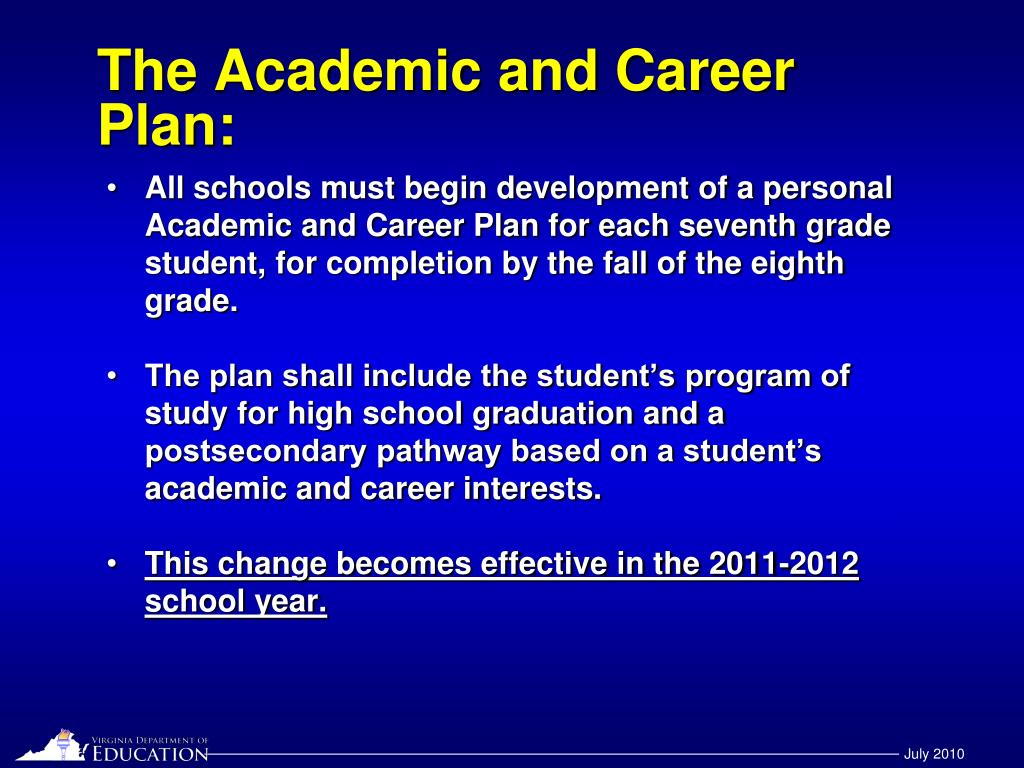The Academic and Career Plan: