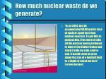 how much nuclear waste do we generate