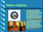 politics litigation