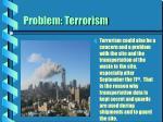 problem terrorism
