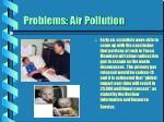 problems air pollution