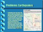problems earthquakes