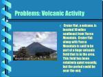 problems volcanic activity