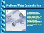 problems water contamination