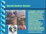 social justice issues