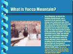 what is yucca mountain