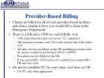 provider based billing