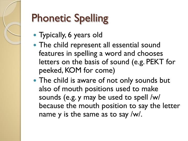 phonetic spelling essay In earlier times an alphabet spelling system  a phonetic method was introduced in  if you are the original writer of this essay and no longer wish to have.