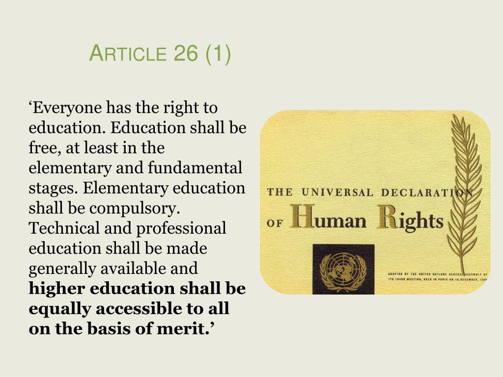 Article 26 (1)