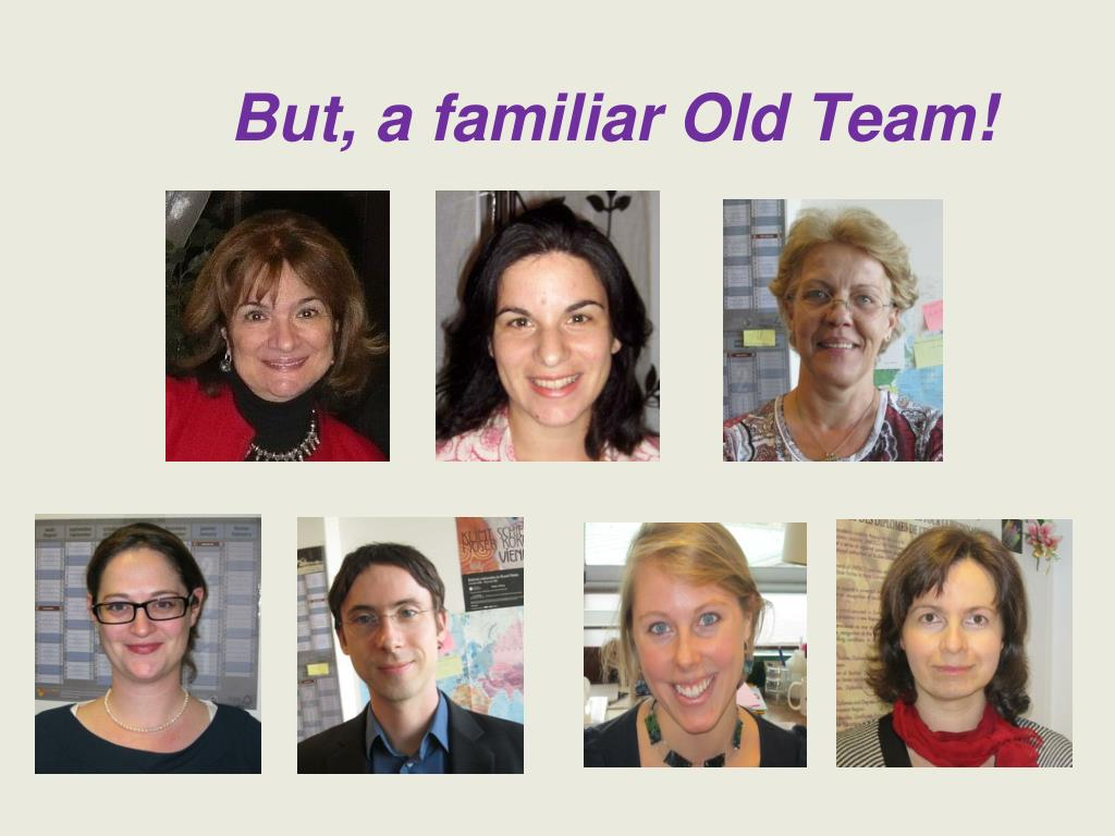 But, a familiar Old Team!