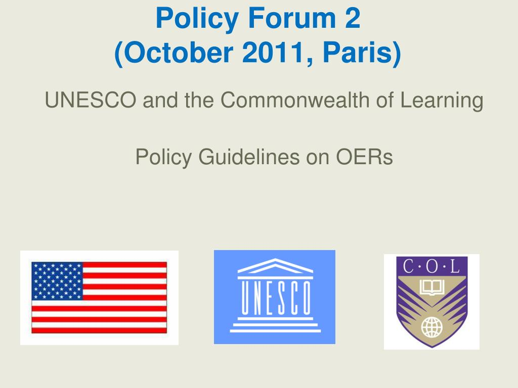 Policy Forum 2