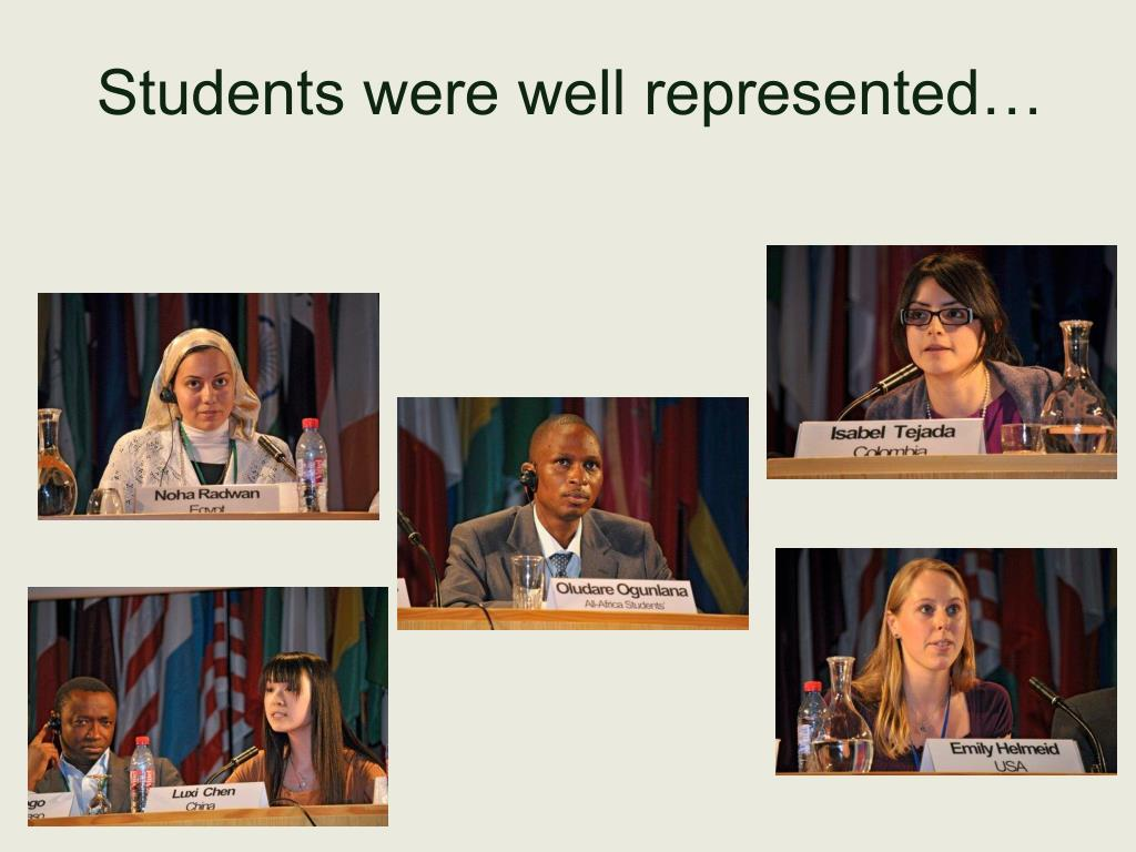 Students were well represented…