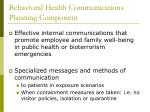 behavioral health communications planning component23
