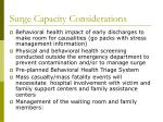 surge capacity considerations