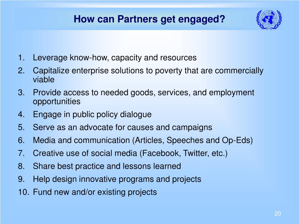 How can Partners get engaged?