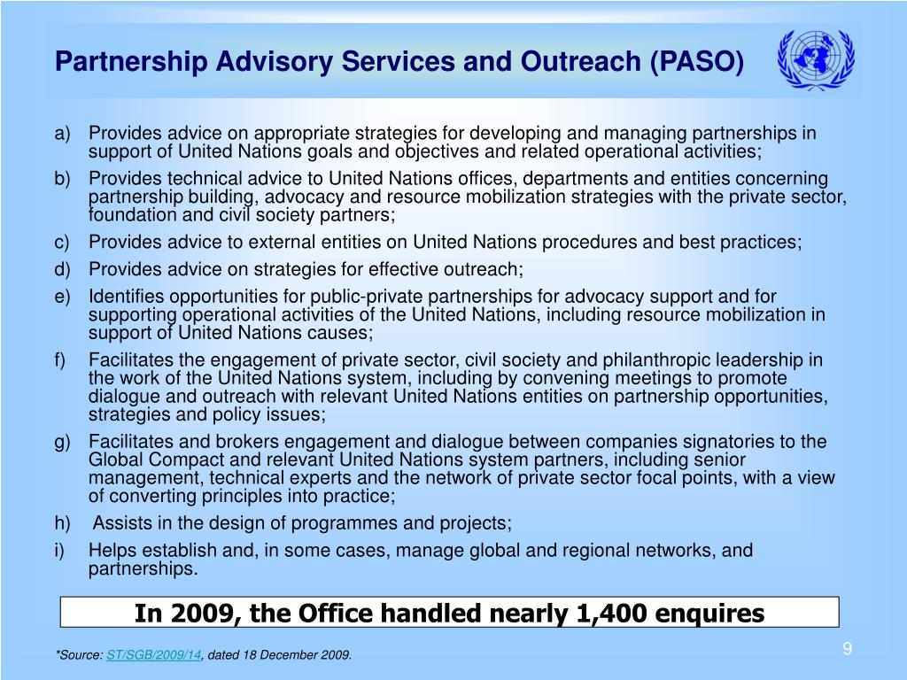 Partnership Advisory Services and Outreach (PASO)