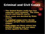criminal and civil cases
