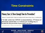 time constraints