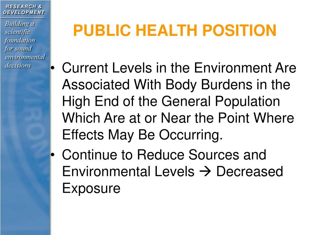 PUBLIC HEALTH POSITION