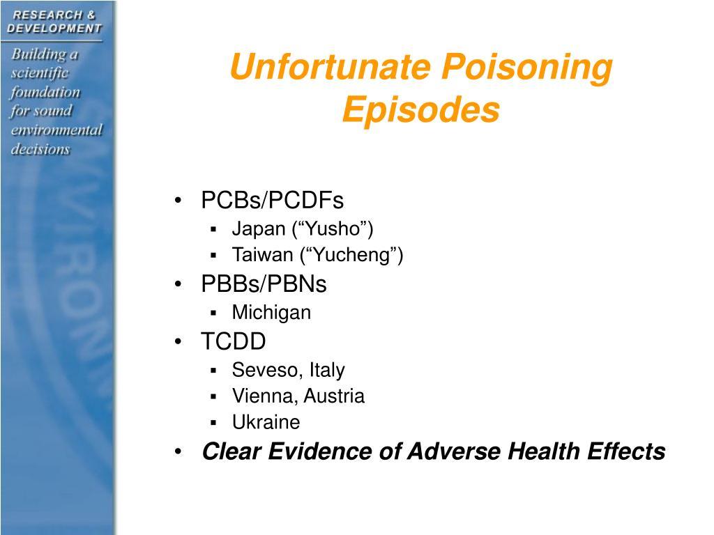 Unfortunate Poisoning Episodes