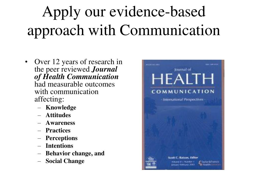 Apply our evidence-based approach with Communication