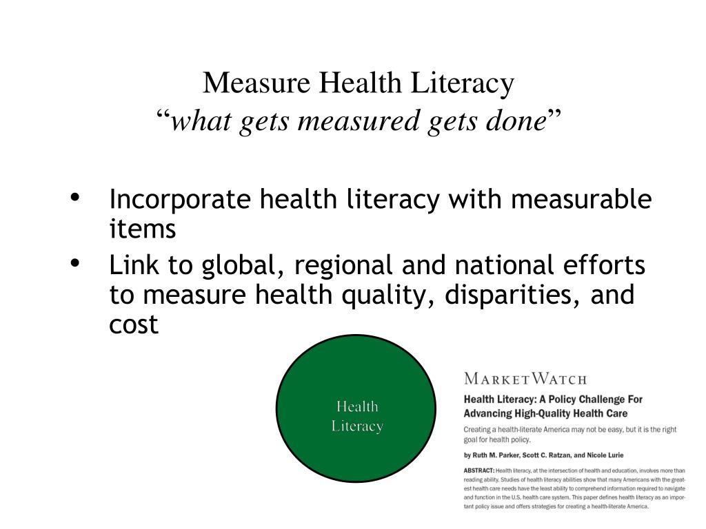 Measure Health Literacy